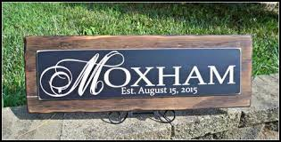 Last Name Sign Personalized Family Rustic Wedding Decor