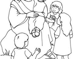 Jesus And The Children Coloring Page 920 Best Bible Coloring Pages