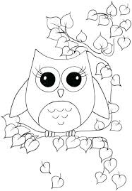 Full Image For Cute Printable Coloring Pages Owl Amazing