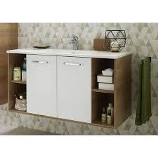 badezimmer waschtisch set 2 teilig in weiß glanz und riviera