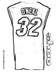 4 Basketball Jersey Coloring Page