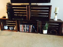Items Similar To Wood Crate TV Stand On Etsy