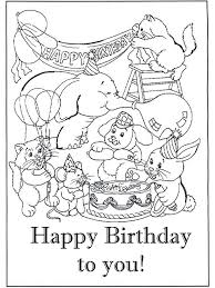 Card Happy Birthday With Pictures Party Animals Coloring Pages
