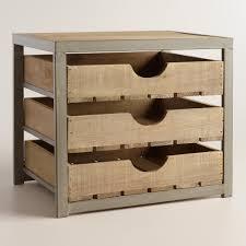 Desktop File Sorter Uk by Wood And Metal Sebastian 3 Drawer File Desktop Storage Apple