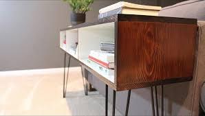 Build A Mid Century Modern Sofa Table DIYwithRick Within Design 12