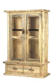 Rustic Aspen Log Gun Cabinet