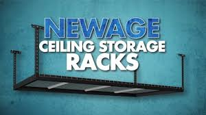 garage ceiling storage racks by newage products youtube