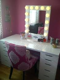 high quality of vanity makeup table with lights and mirror ideas
