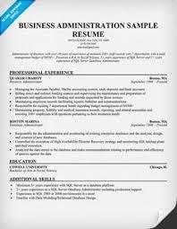 11 Business Administration Resume Samples