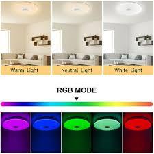 24w led deckenleuchte dimmbar rgb sternenhimmel deckenle farbwechsel helligkeitsstufen einstellbar mit fernbedienung für kinderzimmer schlafzimmer