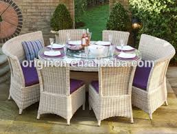 Curved Bench Designed Antique Style Balcony Dining Chair And Table Set Wicker Outdoor Restaurant Furniture Dubai