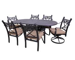 Basso Collection 4 Dining Chairs 2 Swivel Rockers And Le Terrace 42 X 72 Oval