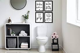 wietre premium 4er set lustige bad wc sprüche