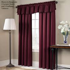 Burgundy Grommet Blackout Curtains by Blackstone Blackout Window Treatment