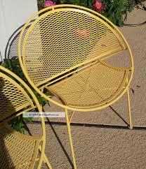 Salterini Iron Patio Furniture by Salterini Tempestini Iron Radar Hoop Saucer Clamshell