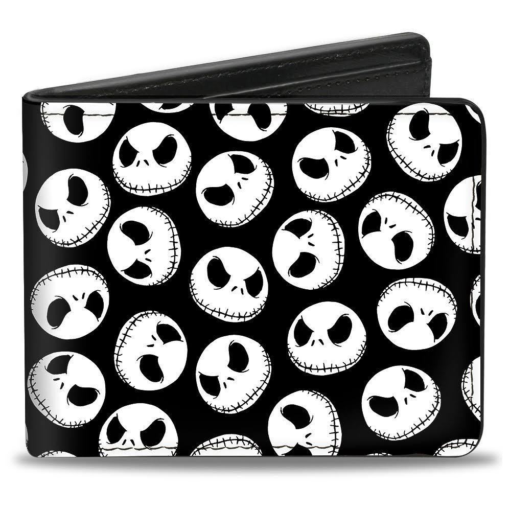 Nightmare Before Christmas Jack Skellington Expressions Bi-Fold Wallet