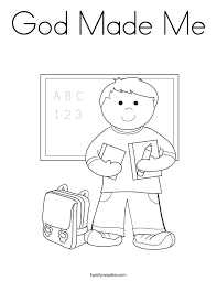 Creation Printables New Picture God Made Me Coloring Page Free