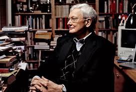Roger Ebert In His Home Office 2005