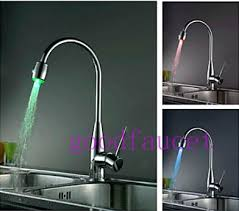 led kitchen faucet brass pull out kitchen faucet with color