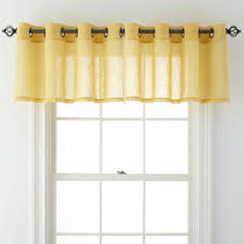 Jc Penney Curtains Martha Stewart by Jcpenney Home Bayview Grommet Top Sheer Tailored Valance Jcpenney
