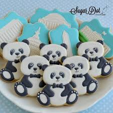 Panda Bears In Tuxes Cookies