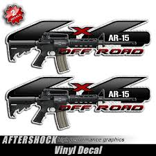 4x4 AR-15 Assault Rifle F-150 Gun Decals - Aftershock Decals Metal Mulisha Skull Circle Window X22 Graphic Decal Monster Truck Wall Decals Mural Wallums Texans Truck Has Possibly The Most Racist Decal Ever San Antonio Rocker Flame Side Graphics Ford F150 Bed Stripes Torn Mudslinger Side 4x4 Rally Vinyl Turkey Tailgate Realtree Xtra Camo Camouflage Ripped Style Custom Truckcarauto Decals And If You Think My Is Smokin Should See Wife Sticker Great Deals On Silly Boys Trucks Are For Girls Car Intertional Harvester Official Ih Gear Wraps Houston Vehicle 3m Wrap