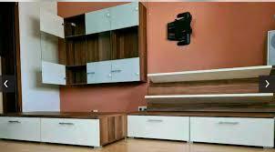 wohnwand wohnzimmer hängeschrank sideboard regal tisch nussbaum
