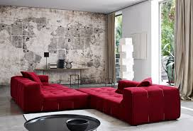 Red Sofa Living Room Ideas by Vintage World Map Wall Art For Creative Living Room Design With