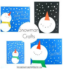 Easy Preschool Winter Crafts Snowman Craft For Kids Art Projects And Simple Ideas