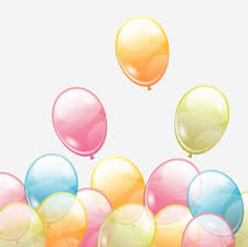 Birthday background with colored transparent balloons vector 01