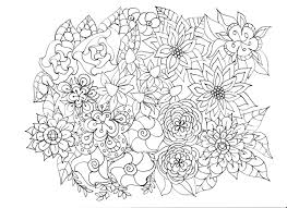 Adult Coloring Pages Flowers Plants Garden For Connect360 Me Throughout Flower