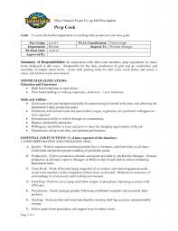 Food Prep Resume Chief Cook Restaurant Chef Cover Letter Manager Sample Cute