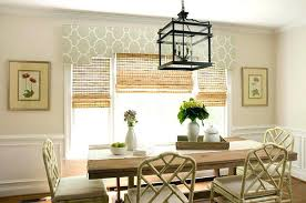 Dining Room Windows 2 Cornice And Woven Blinds Curtains For Bay