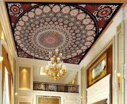 benutzerdefinierte 3d decke wandmalereien kühle rote familie muster tapete für badezimmer 3d himmel foto europäischen wallpapers decke