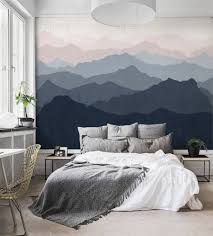 Mountain Mural Wall Art SimpleShapes Paper BedroomWall