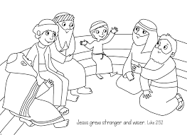 Jesus As A Boy Coloring Pages Best 2017