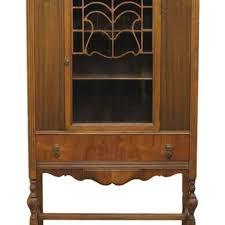 Henredon Walnut China Cabinet by High End Used Furniture Antique Abernathy Furniture Art Deco 38