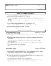 Resume Profile Examples Executive
