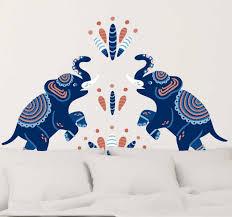wandtattoo wohnzimmer elefant nach indischer