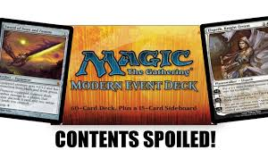 is the modern event deck worth it complete decklist spoiled