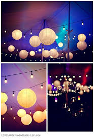 Outdoor Paper Lantern Lights Globe String Lights Waterproof