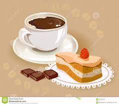tasse kaffee und ein kuchen stock abbildung illustration