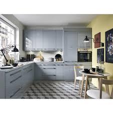 küche fl top line grau glanz