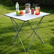 Outdoor Aluminum Roll Up Folding Camping Table Tables Tops ... Fold Up Camping Table And Seats Lennov 4ft 12m Folding Rectangular Outdoor Pnic Super Tough With 4 Chairs 120 X 60 70 Cm Blue Metal Stock Photo Edit Camping Table Light Togotbietthuhiduongco Great Camp Chair Foldable Kitchen Portable Grilling Stand Bbq Fniture Op3688 Livzing Multipurpose Adjustable Height High Booster Hot Item Alinum Collapsible Roll Up For Beach Hiking Travel And Fishing Amazoncom Portable Folding Camping Pnic Table Party Outdoor Garden
