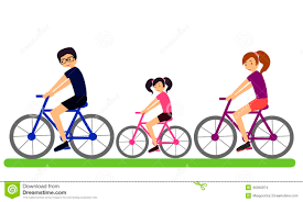 Bicycle Clipart Family Cycling