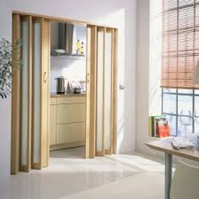 Excellent Bifold Doors As Living Room Divider With Handmade Blinds Windowed Also Modern