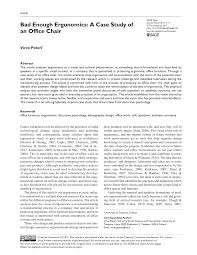 PDF) Bad Enough Ergonomics: A Case Study Of An Office Chair Dcor Ideas For Therapists Offices Lovetoknow Sofa Vector Transparent Background Png Cliparts Free Psychologists Office Interior And Props 3d Model In Hall 3dexport How Do These Curtains Make You Feel The Science Of Psychologist Room With Couch Armchair Window Fniture Iconic Eames Style Lounge Chair Add Clainess To Traditional Appeal Your Home Using Best Koket Envy Chaise 2019 Design Youd Be Surprised To Know What Choice Of Says
