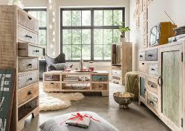 kommode uma 9 sideboard anrichte schrank wohnzimmer mangoholz bunt 7 schubladen highboard