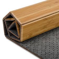 tapis de bain casa pura en bambou tapis de sauna 2 coloris