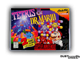 Tetris & Dr. Mario SNES Super Nintendo Game Case Box Cover Brand New ...